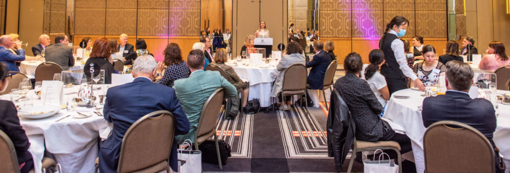 Kate Disher-Quill addresses the HearMe lunch guests