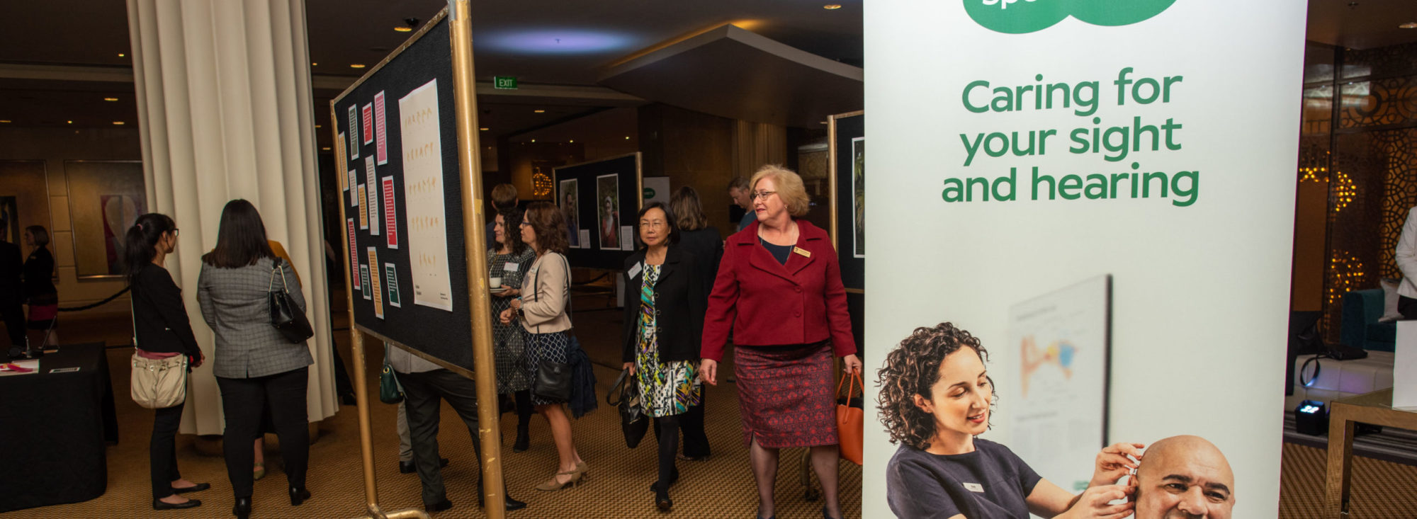 Specsavers' banners on view at HearMe launch event