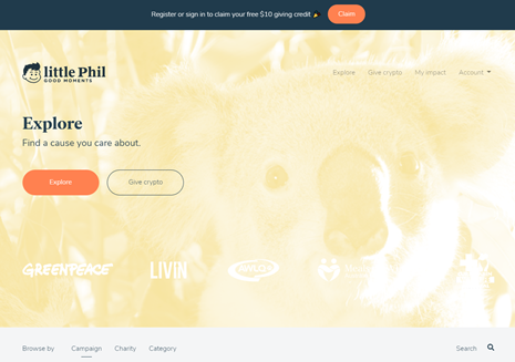 Home page of the Little Phil website