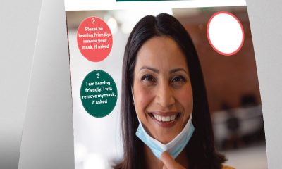 Display tent for hearing friendly magnetic badges