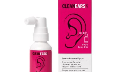 CleanEars ear wax removal spray - pink box
